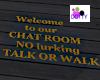 Floor sign Talk or walk