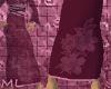 belted long kimono skirt