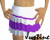 Purple n white skirt