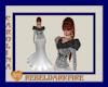 (CR) White-Blk Fur Gown