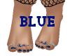 Jeweled Blue Toenails