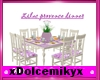 lilac provence table