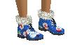 Blue Snowman boots