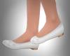 *Q* White Ballet Flats