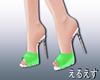 *LS SHINY python sandals