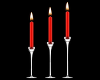 Animated red candles