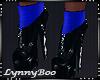 *Blue & Black Boots