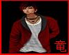 [竜]Red Open Sweater