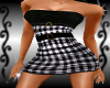 {LA} White checker dress