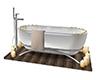 Bath tub poseless