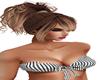 new blk/white stripe top