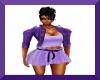 Purple Jacket w/Skirt
