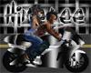 Black N white Ninja Bike
