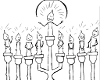 Chanukah Menorah Drawing