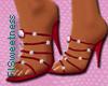 FLS Beaded Sandals -Red