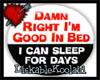 *Good In Bed* Sticker