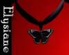 {E} Blk Butterfly Choker