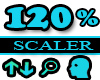 120% Scaler Head Resizer
