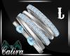 Aquamarine Bracelet  L
