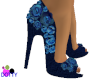 Navy blue rose shoes