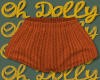 Knit Shorts Orange