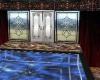 dark texture pool house