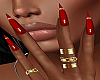 !P! Rings Red Nails