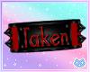 Red Taken Armband R/F