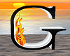 Animated Flame Letter G