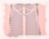 A: Pink curtains