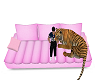 LC pink couch w/ tiger