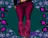 *K* Pink Flower Flares
