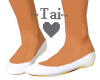 ~Tai~ Satin White Flats