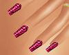 (AF) Tiger Pink Nails