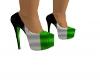 ZL (Grn Wht & Blk Heels