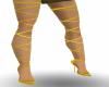 Tall Gold Sandals