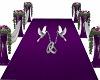 wedding column purple