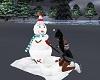 Snowman building animate