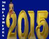 New year 2015 dourado
