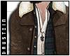 d|  Brown Suede Jacket