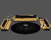 Black Gold Sofa Set