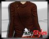Brown Sweater Shawl