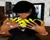 ~trig~ yellow long nails