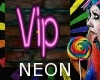 Neon VIP Sign Pink Light