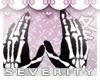 *S Skellie Hand Gloves