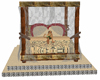 Egyptian canopy bed
