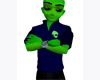 Alien blue short sleeve