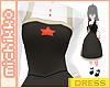 *M Ayame Dress Black