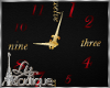GOLD RED CLOCK