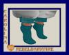 (CR) Teal Socks